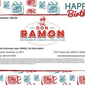 Happy Birthday Gift Certificate