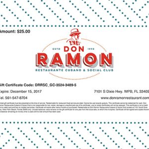 General Gift Certificate