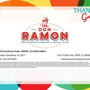 Thank You Gift Certificate